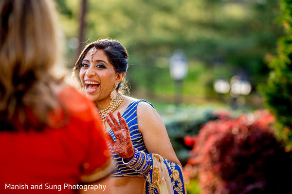 Wedding reception in West Orange, NJ Indian Wedding by Manish and Sung Photography