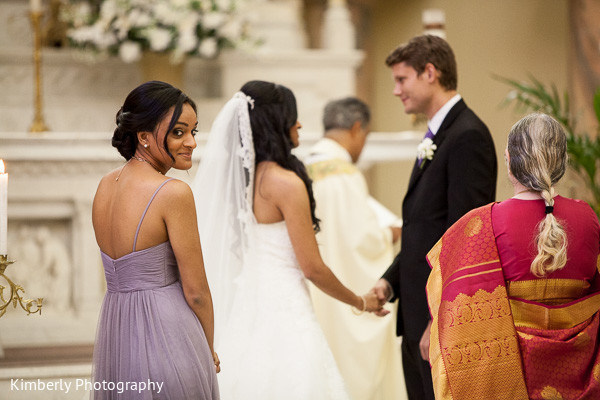 Wedding ceremony in Tampa, FL Indian Fusion Wedding by Kimberly Photography