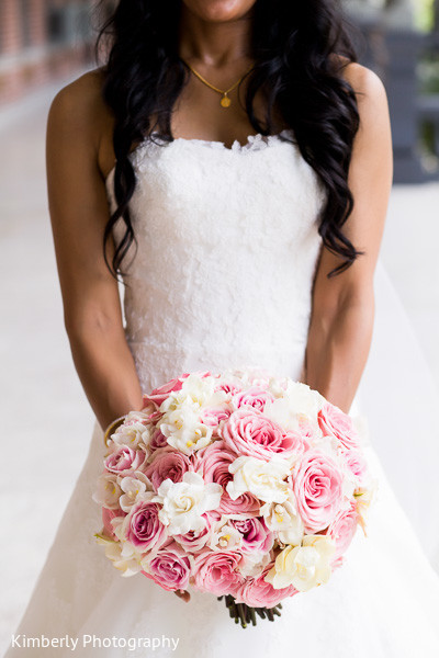 Wedding bouquet in Tampa, FL Indian Fusion Wedding by Kimberly Photography