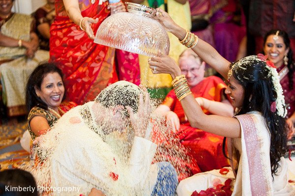 Talambra ceremony in Tampa, FL Indian Fusion Wedding by Kimberly Photography