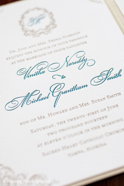 Wedding invitations in Tampa, FL Indian Fusion Wedding by Kimberly Photography