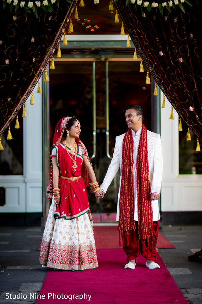 Wedding portraits in Woodland Park, NJ Indian Wedding by Studio Nine Photography + Cinema