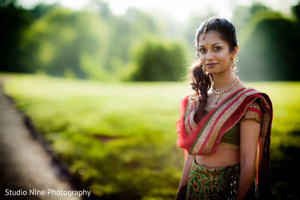 Pre-wedding portrait in Woodland Park, NJ Indian Wedding by Studio Nine Photography + Cinema