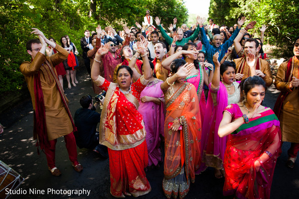 Baraat in Woodland Park, NJ Indian Wedding by Studio Nine Photography + Cinema