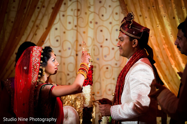 Wedding ceremony in Woodland Park, NJ Indian Wedding by Studio Nine Photography + Cinema