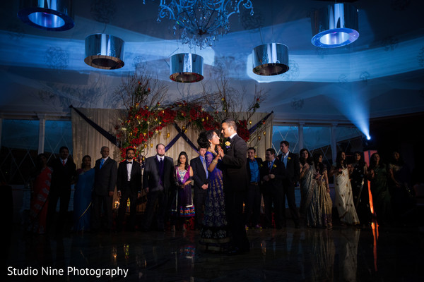 Reception in Woodland Park, NJ Indian Wedding by Studio Nine Photography + Cinema