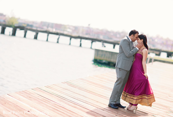 Engagement portraits in Baltimore, MD Indian Engagement by Blue Palm Photography
