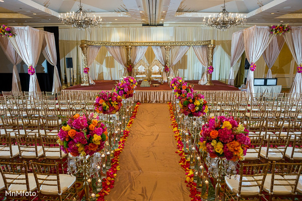 Ceremony in Dallas, TX South Indian Wedding by MnMfoto