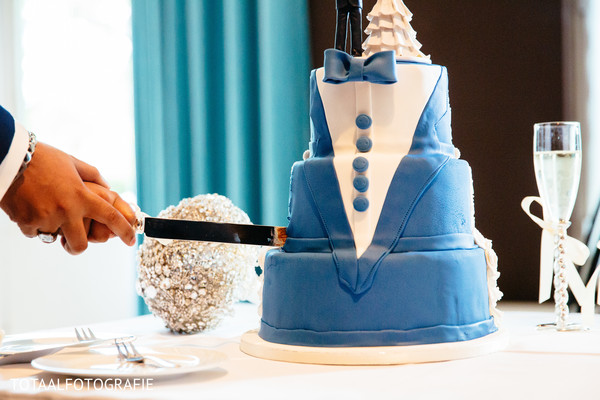 Groom's cake in Utrecht, Netherlands Indian Wedding by TOTAALFOTOGRAFIE