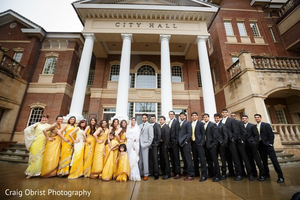 Bridal Party in Lawrenceville, GA Indian Wedding by Craig Obrist Photography