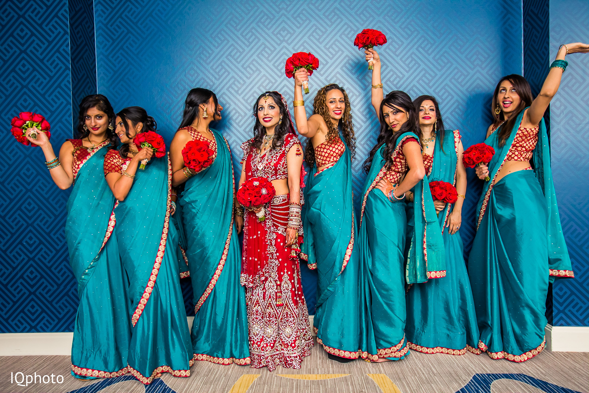 Bridal Party in San Jose, CA Indian Wedding by IQ Photography ...