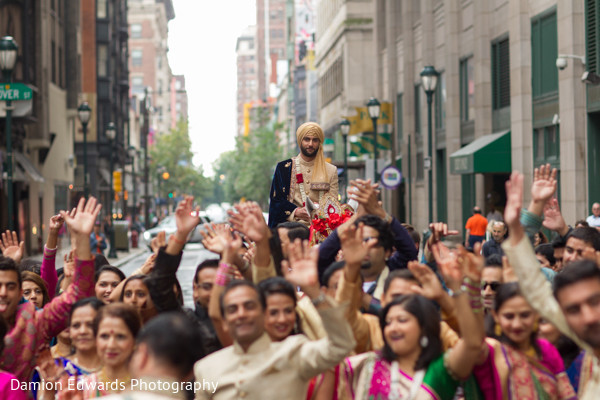 Baraat in Philidelphia, PA Indian Wedding by Damion Edwards Photography