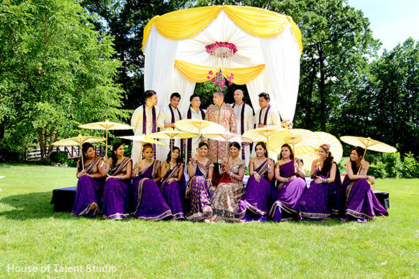 Wedding party portraits in Pearl River, NY Indian Wedding by House of Talent Studio