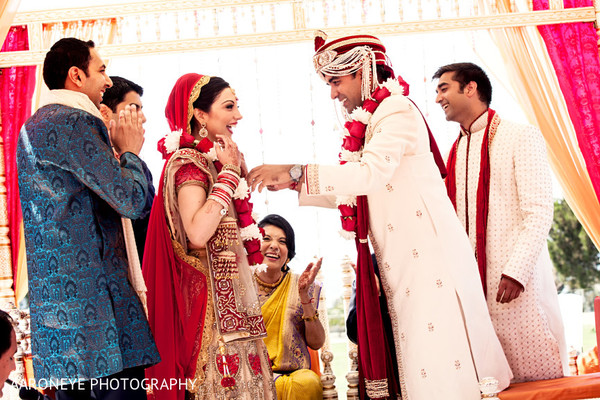 Wedding ceremony in Dana Point, CA Indian Wedding by Aaroneye Photography