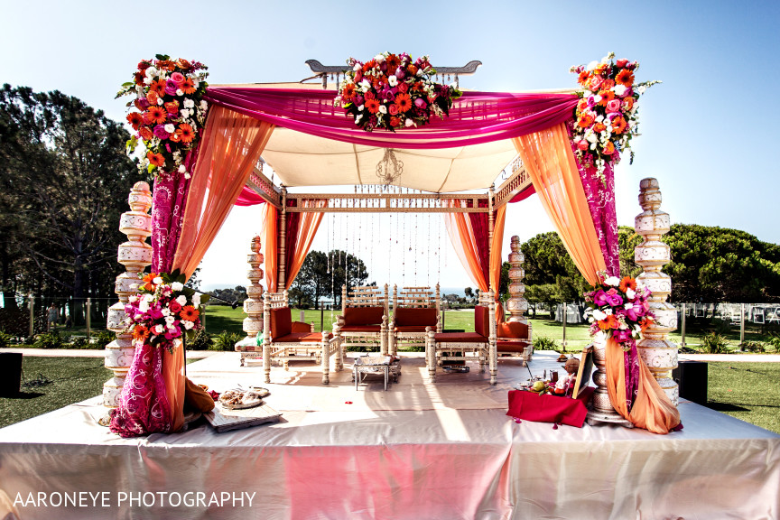 Floral Decor In Dana Point CA Indian Wedding By Aaroneye Photography