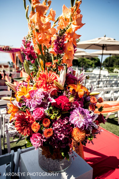 Floral & Decor in Dana Point, CA Indian Wedding by Aaroneye Photography