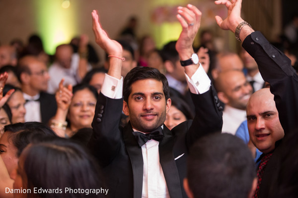 Wedding reception in Philidelphia, PA Indian Wedding by Damion Edwards Photography