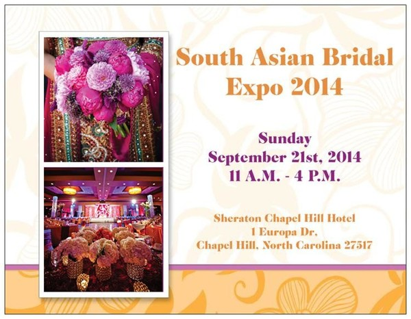Bridal Fashions in Chapel Hill, NC South Asian Bridal Expo by LadyBird Events