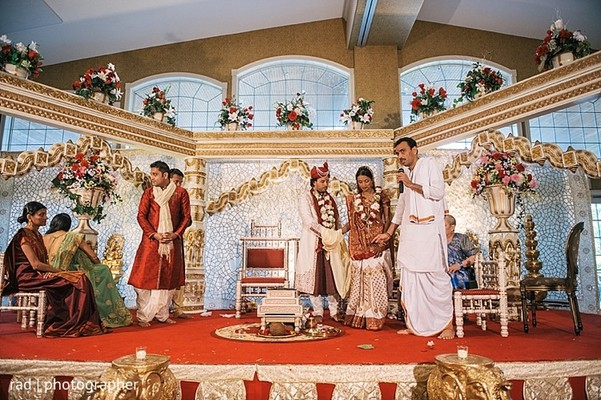 Ceremony in Cleveland, OH Indian Fusion Wedding by Rad Photographer