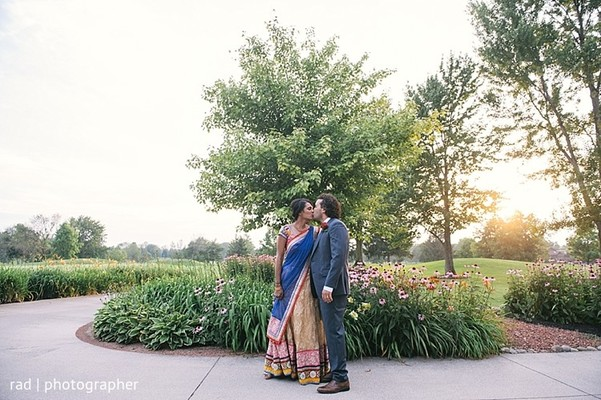 Pre-Reception Portraits in Cleveland, OH Indian Fusion Wedding by Rad Photographer
