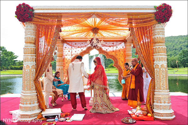 Wedding ceremony in Mahwah, NJ Indian Wedding by NYNJ Photography