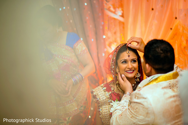 Ceremony in Bethesda, MD Indian Wedding by Photographick Studios