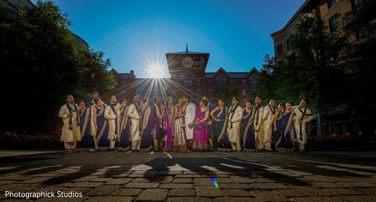 Bridal Party in Bethesda, MD Indian Wedding by Photographick Studios