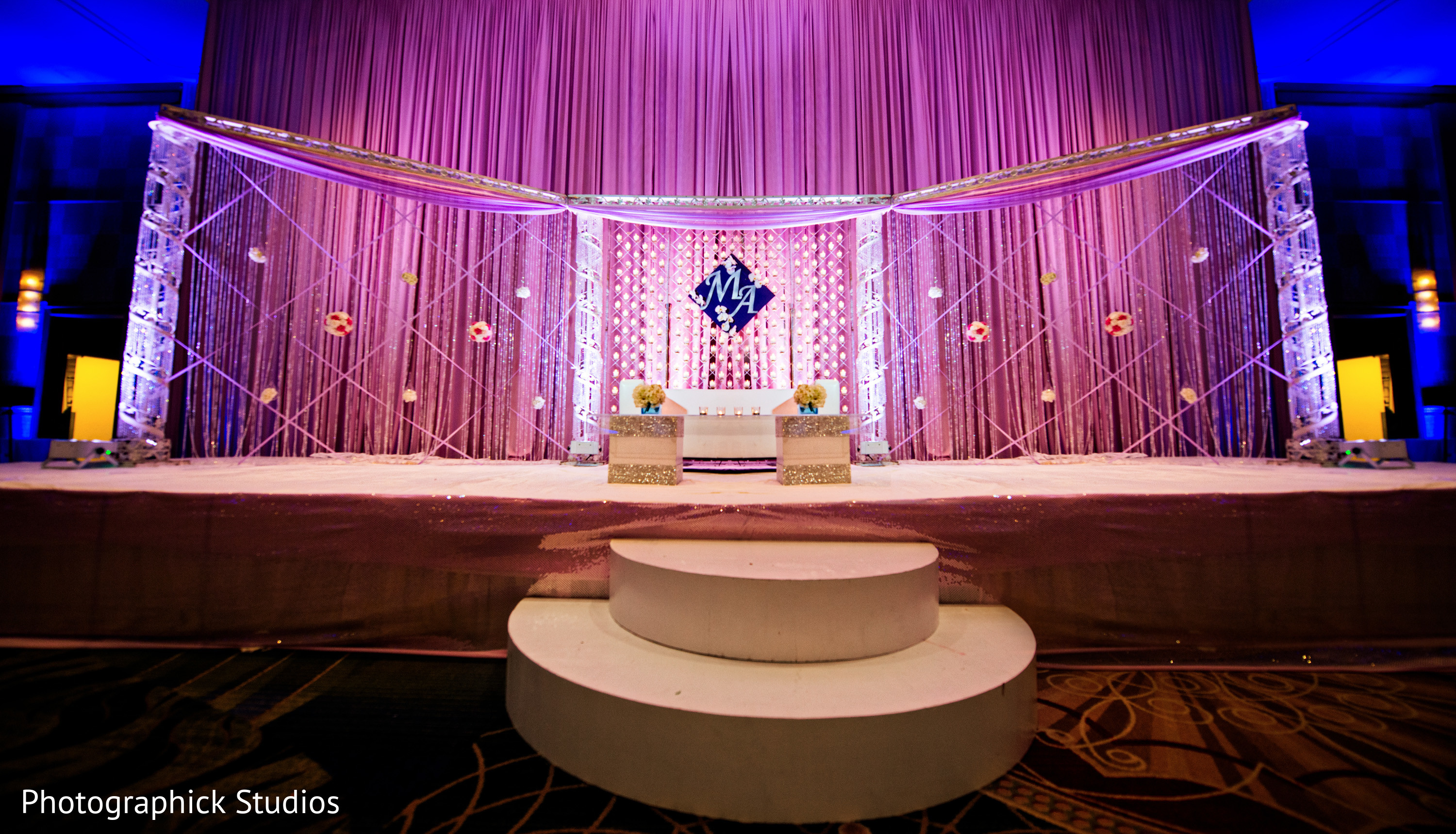 Reception In Bethesda Md Indian Wedding By Photographick
