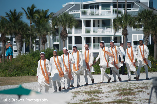 Wedding ceremony in Captiva Island, FL Fusion Wedding by Julie Brewer Photography