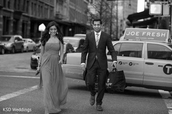 Engagement portraits in New York, NY Indian Engagement by KSD Wedding