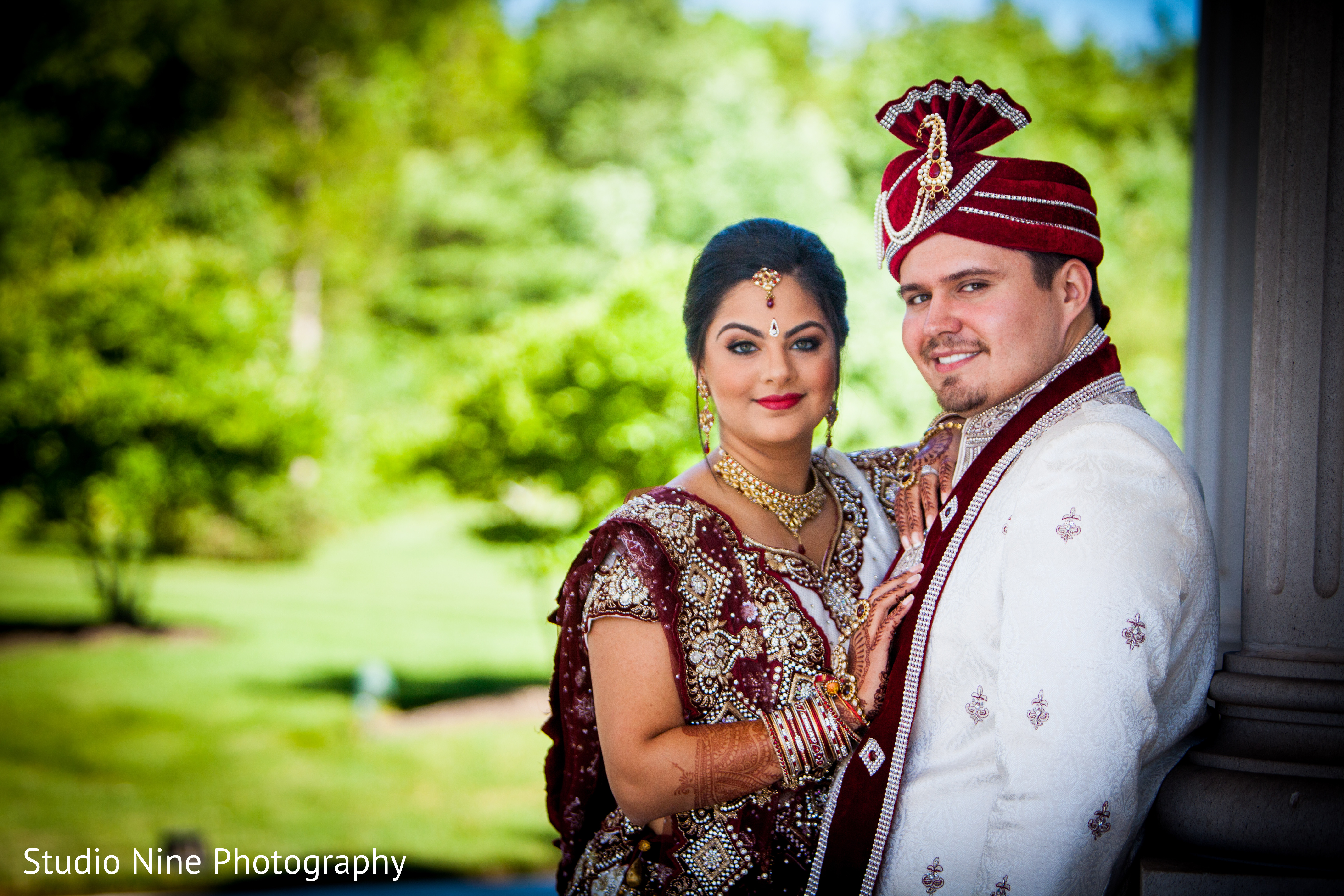 Outdoor Photography Wedding: Portraits In Somerset, NJ Indian Wedding By Studio Nine
