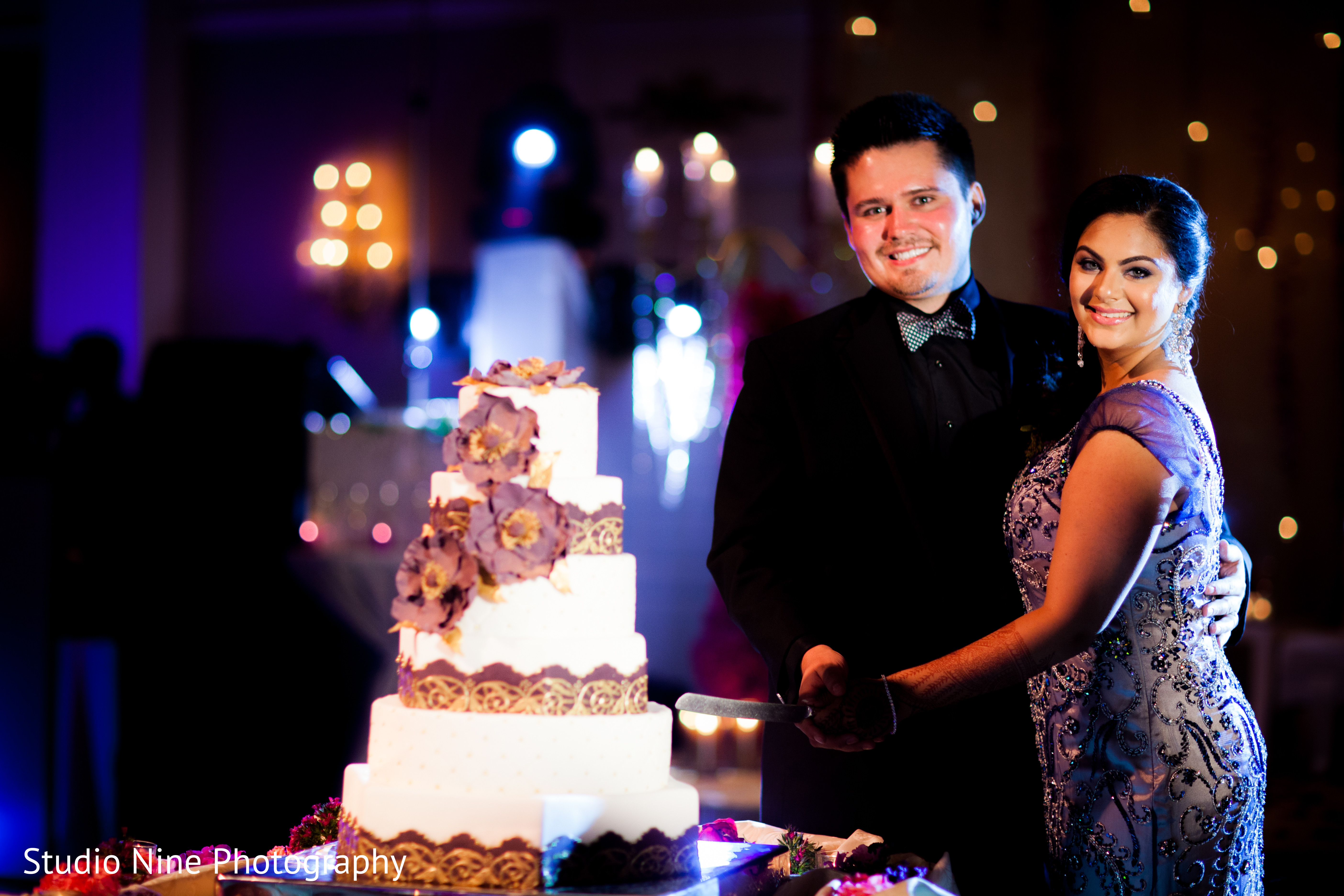 Reception in somerset nj indian wedding by studio nine for Indian jewelry in schaumburg il