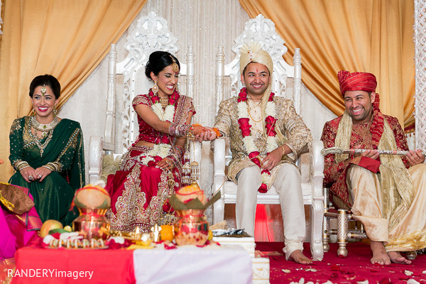 Ceremony in Irvine, CA Indian Wedding by RANDERYimagery