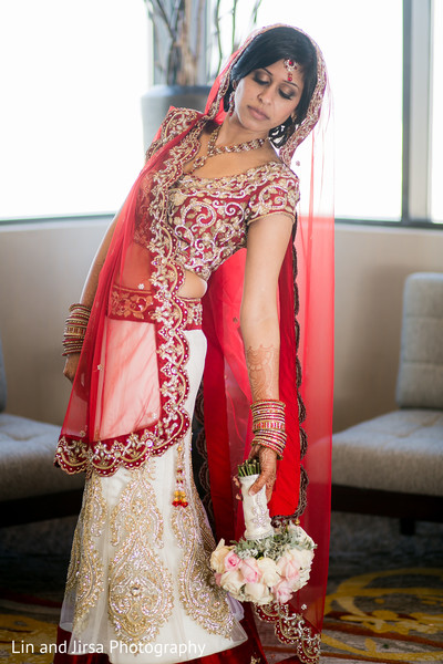 Wedding portraits in Newport Beach, CA Indian Wedding by Lin and Jirsa Photography