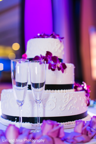Wedding cake in Newport Beach, CA Indian Wedding by Lin and Jirsa Photography