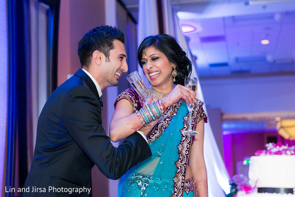 Wedding reception in Newport Beach, CA Indian Wedding by Lin and Jirsa Photography