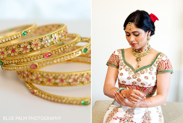 Bridal jewelry in Potomac, MD Indian Wedding by Blue Palm Photography