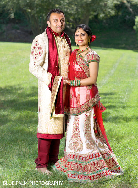 Wedding portraits in Potomac, MD Indian Wedding by Blue Palm Photography