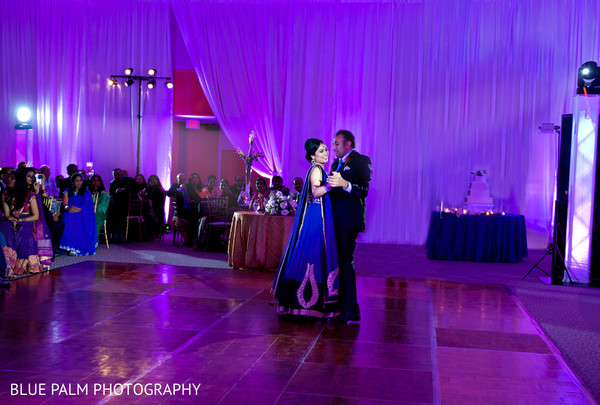 Wedding reception in Potomac, MD Indian Wedding by Blue Palm Photography