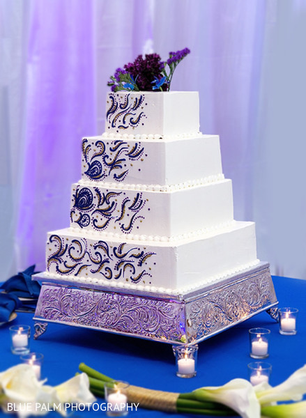 Wedding cake in Potomac, MD Indian Wedding by Blue Palm Photography