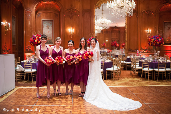 Bridal party portrait in Houston, TX Fusion Wedding by Biyani Photography