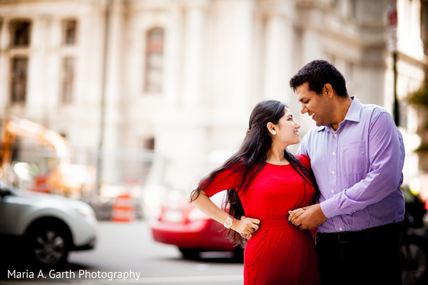 Engagement in Center City, PA Indian Engagement by Maria A. Garth Photography