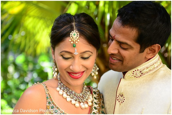 Portraits in Grand Cayman Indian Destination Wedding by Rebecca Davidson Photography