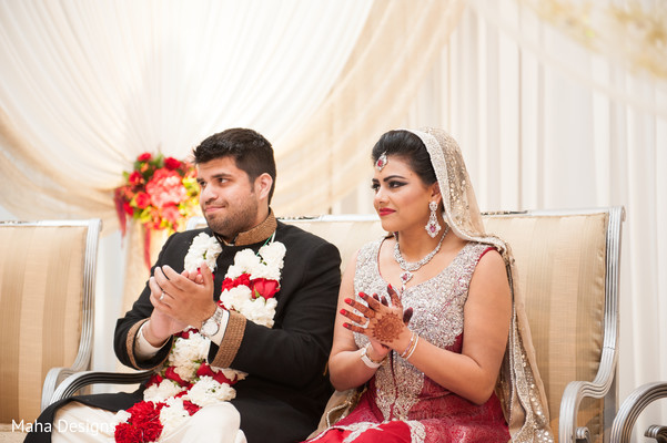 Ceremony in Chicago, IL Pakistani Wedding by Maha Designs