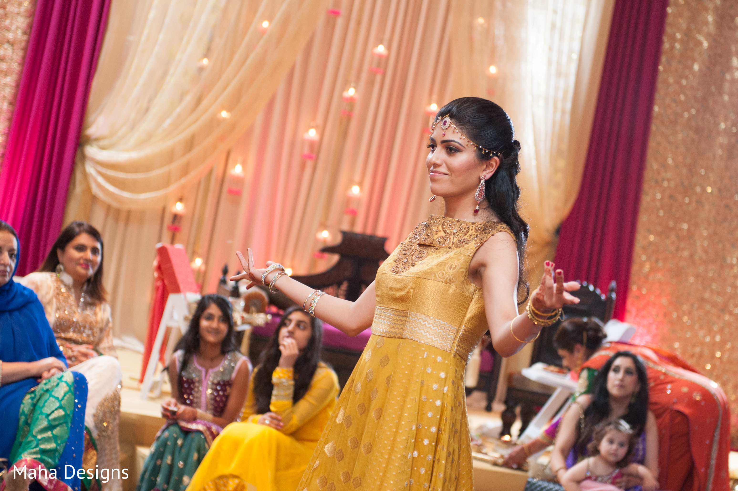 Mehndi Party Saree : Mehndi party in chicago il pakistani wedding by maha designs