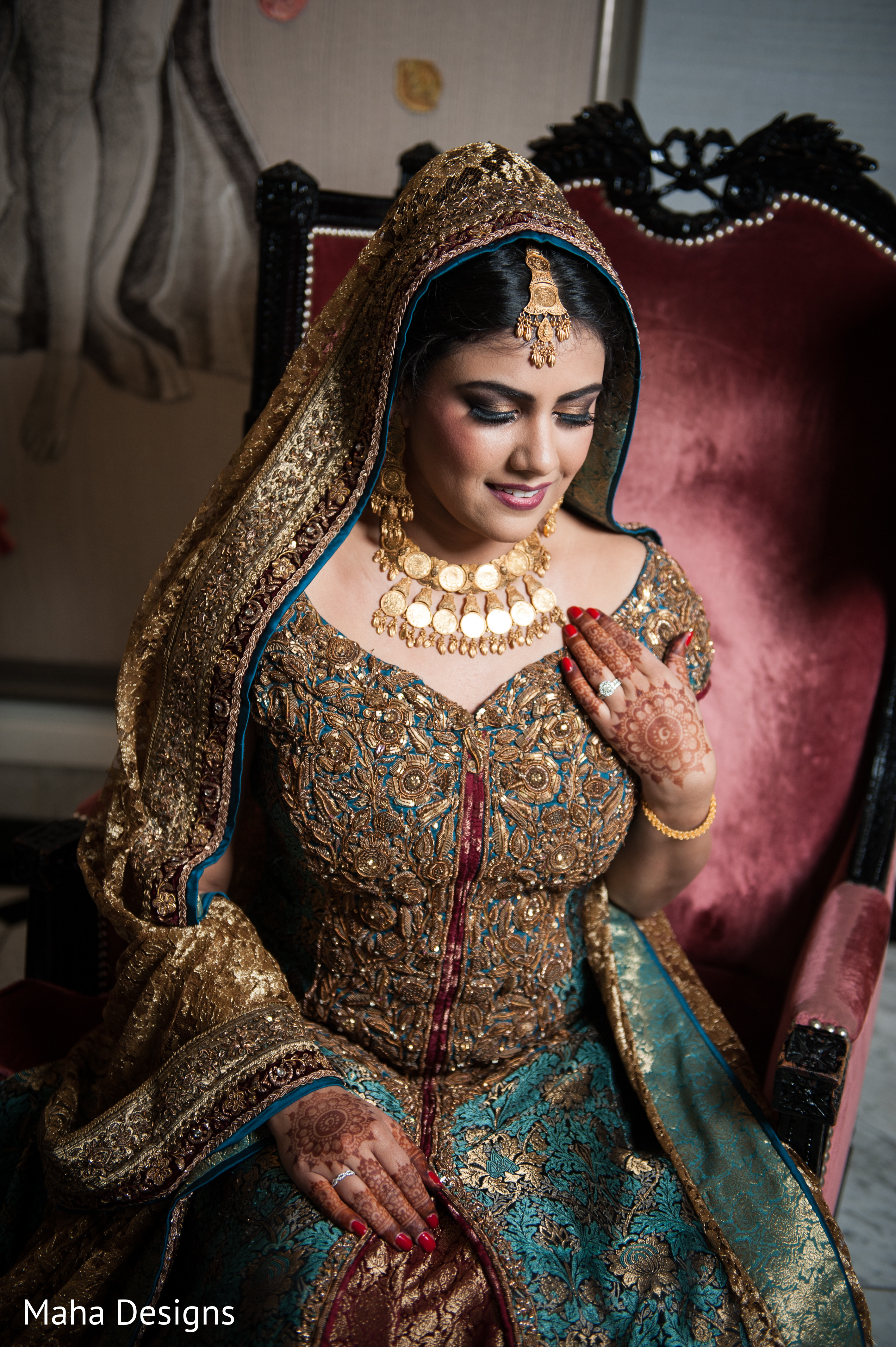 Reception in chicago il pakistani wedding by maha designs for Indian jewelry in schaumburg il