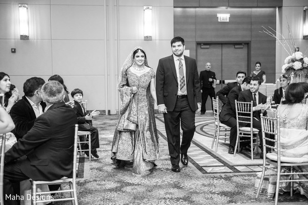 Reception in Chicago, IL Pakistani Wedding by Maha Designs