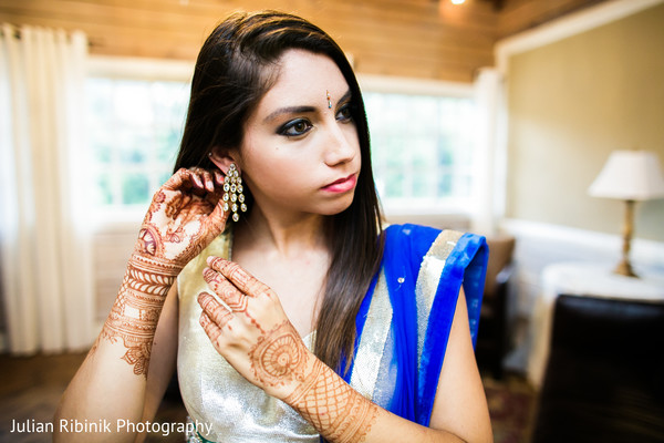 Getting ready in Indian Wedding Reception Inspiration Shoot by Julian Ribinik Photography