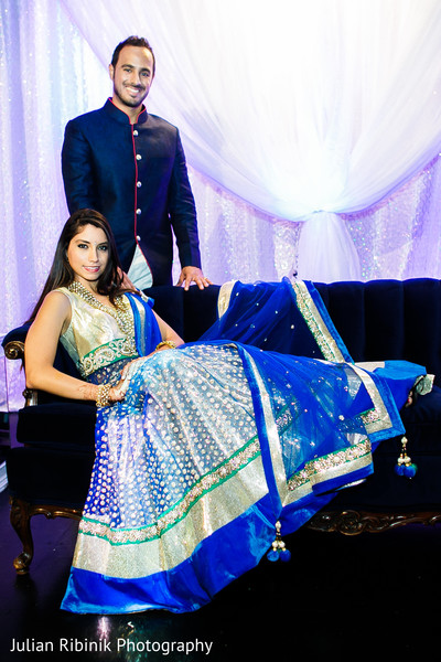 Reception portraits in Indian Wedding Reception Inspiration Shoot by Julian Ribinik Photography