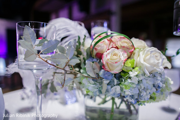 Floral & Decor in Indian Wedding Reception Inspiration Shoot by Julian Ribinik Photography
